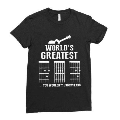World's Greatest  Guitar Chord Vintage Ladies Fitted T-shirt Designed By Sie Sie