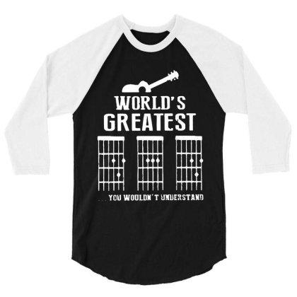 World's Greatest  Guitar Chord Vintage 3/4 Sleeve Shirt Designed By Sie Sie