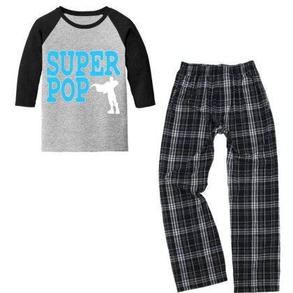 Super Pop Youth 3/4 Sleeve Pajama Set Designed By Oceaneyes
