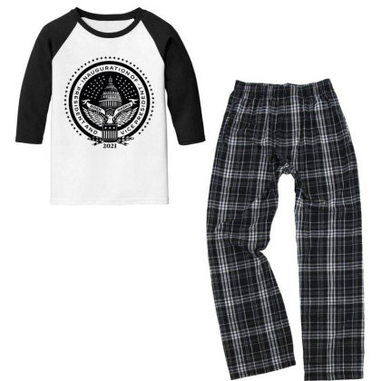 Inauguration Of Joe Biden 3 Youth 3/4 Sleeve Pajama Set Designed By Koopshawneen