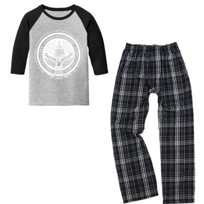 Inauguration Of Joe Biden 2 Youth 3/4 Sleeve Pajama Set Designed By Koopshawneen