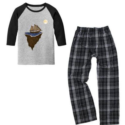 Sailing Boat Youth 3/4 Sleeve Pajama Set Designed By Oceaneyes