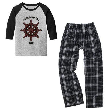 Steering My Life Youth 3/4 Sleeve Pajama Set Designed By Oceaneyes
