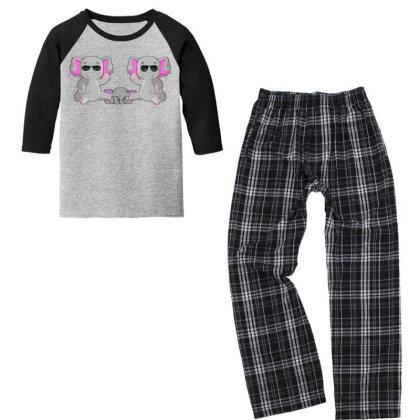 Elephant Youth 3/4 Sleeve Pajama Set Designed By Dav