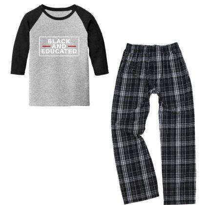 Black And Educated Youth 3/4 Sleeve Pajama Set Designed By Fahmifutri
