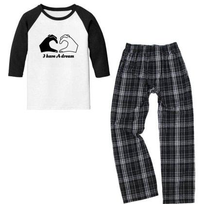 I Have A Dream Youth 3/4 Sleeve Pajama Set Designed By Fahmifutri