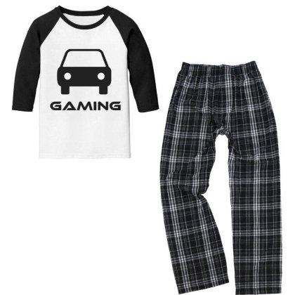 Car Gaming Youth 3/4 Sleeve Pajama Set Designed By Artmaker79