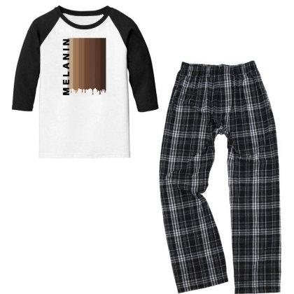 Melanin Youth 3/4 Sleeve Pajama Set Designed By Fahmifutri