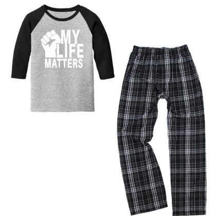 My Life Matters Youth 3/4 Sleeve Pajama Set Designed By Fahmifutri