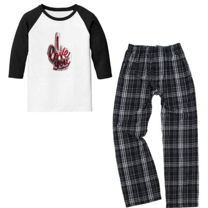 Valentine's Day Youth 3/4 Sleeve Pajama Set Designed By Şen