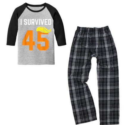 I Survived 45 Forty Five   Trump Lost Youth 3/4 Sleeve Pajama Set Designed By Conco335@gmail.com