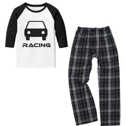 Car Racing Youth 3/4 Sleeve Pajama Set Designed By Artmaker79