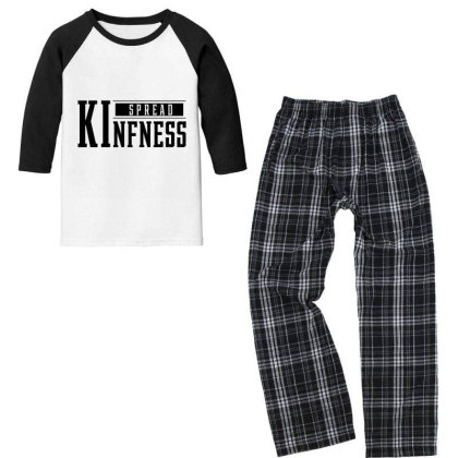 Spread Kindness - Motivational Gift Sayings Youth 3/4 Sleeve Pajama Set Designed By Diogo Calheiros