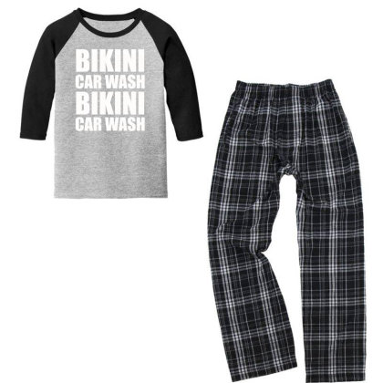 Bikini Car Wash Youth 3/4 Sleeve Pajama Set Designed By Prakoso77