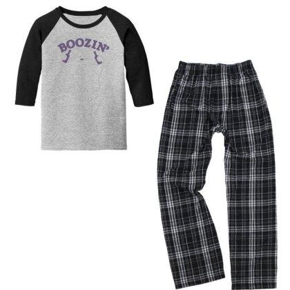 Boozin Youth 3/4 Sleeve Pajama Set Designed By Prakoso77