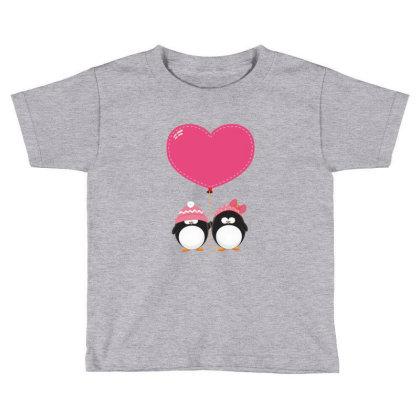 Lovers Penguins Toddler T-shirt Designed By Şen