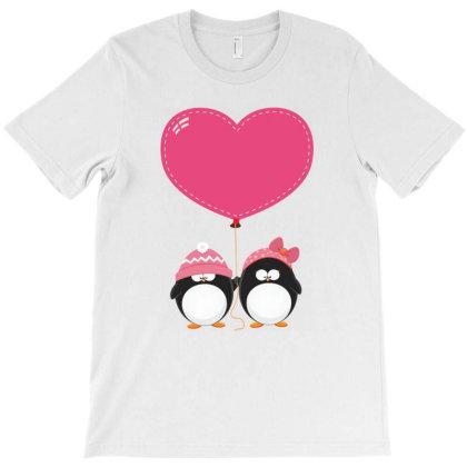 Lovers Penguins T-shirt Designed By Şen
