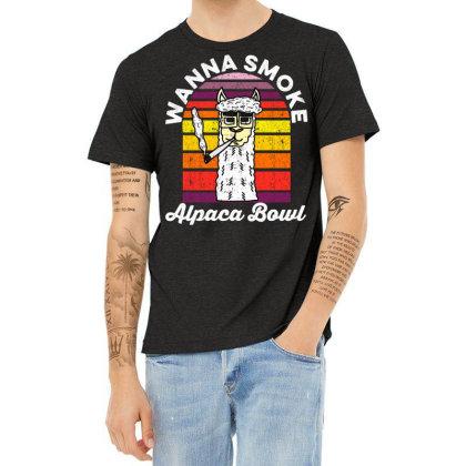 Wanna Smoke Alpaca Bowl Heather T-shirt Designed By Grafixbychawki