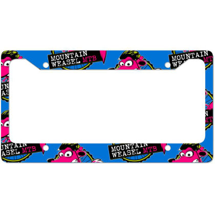 Mountain Weasel Classic Mountain Biking License Plate Frame Designed By Frendos