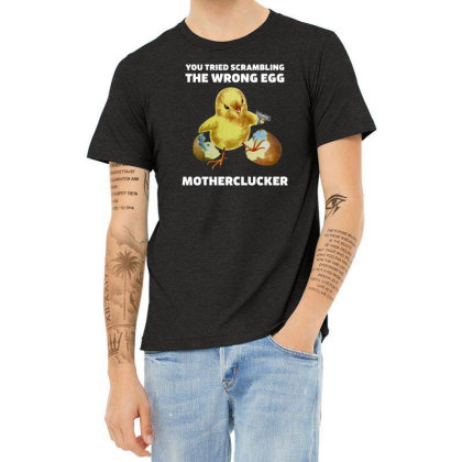 Motherclucker! (dark Colors) Heather T-shirt Designed By Frendos