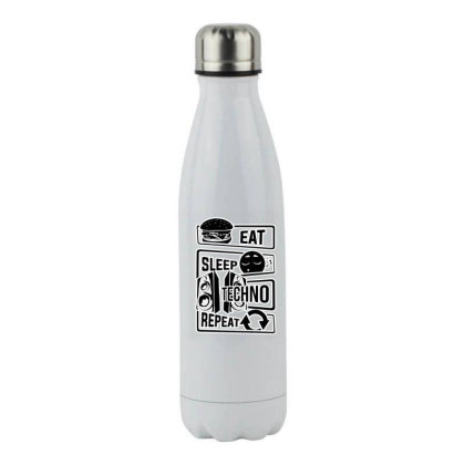 Music Vinyl Party Stainless Steel Water Bottle Designed By Zig Street