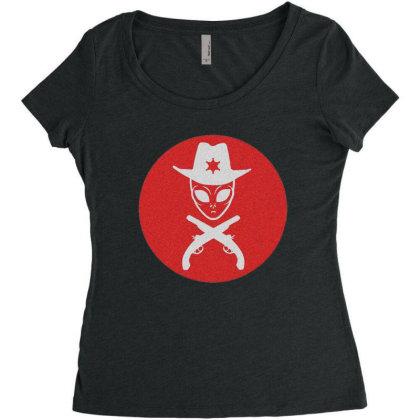 Ovni Alien Women's Triblend Scoop T-shirt Designed By Zig Street