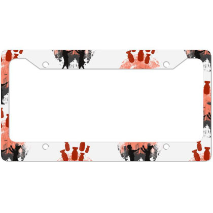 Love In The War License Plate Frame Designed By Frendos
