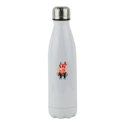 Love In The War Stainless Steel Water Bottle Designed By Frendos