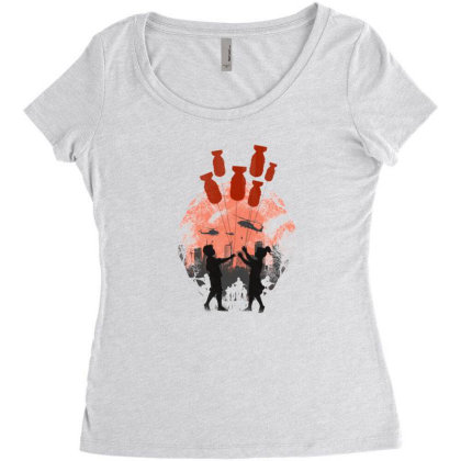 Love In The War Women's Triblend Scoop T-shirt Designed By Frendos