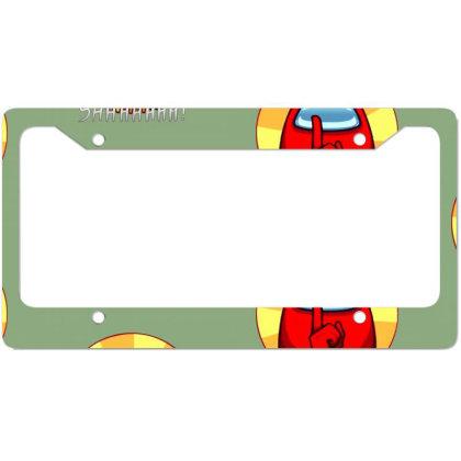 Among Us Game License Plate Frame Designed By Elga Vaniaputri
