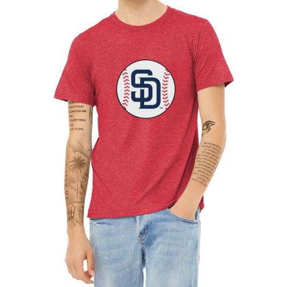 San Diego Padres Heather T-shirt Designed By Elga Vaniaputri
