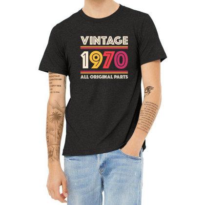 Vintage 1970 Birthday Heather T-shirt Designed By Tasha