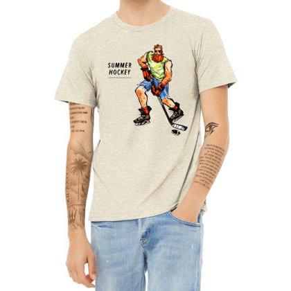 Summer Hockey Heather T-shirt Designed By Daddy's Shop