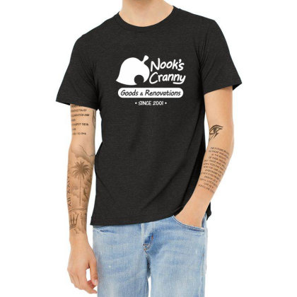 Nook's Cranny Logo Heather T-shirt Designed By Tasha