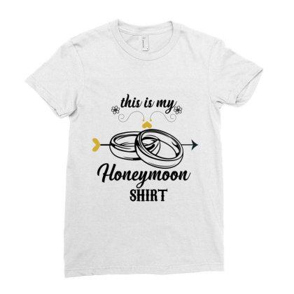 Honeymoon Shirt Ladies Fitted T-shirt Designed By Rardesign