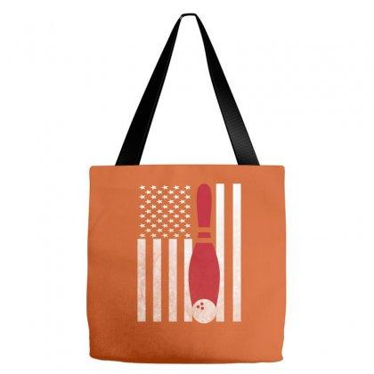 Bowling Bowler - America Usa Flag Tote Bags Designed By Rardesign