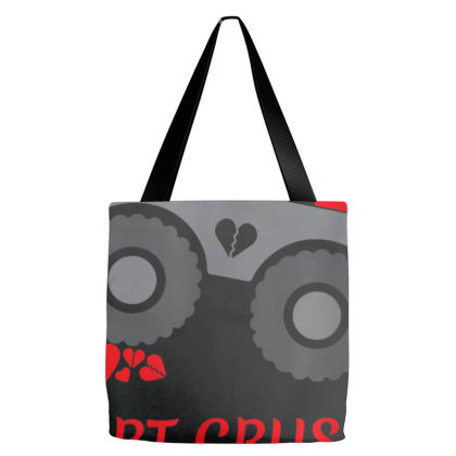Valentines Day Heart Crusher Shirt, Boy Valentines Day T Shirt, Truck Tote Bags Designed By Tegan8688