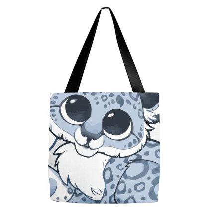 Cute Baby Snow Leopard Cub Tote Bags Designed By Oceaneyes