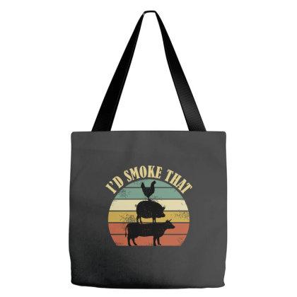 I'd Smoke Tha Vintage Retro Farm Animals Tote Bags Designed By Brave Tees