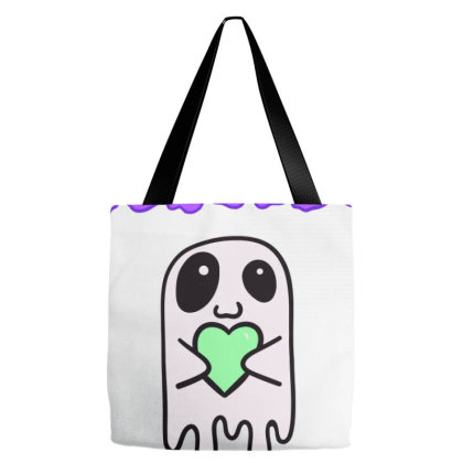 Funny Tourettes Syndrome Awareness Ghost Tote Bags Designed By Oceaneyes