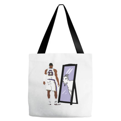 James Mirror Goat Tote Bags Designed By Brave Tees