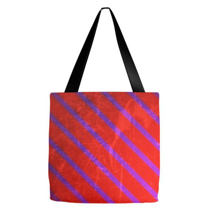 Blue Diagonal Lines Tote Bags Designed By American Choice