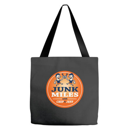 Junk Miles Logo Tote Bags Designed By Brave Tees