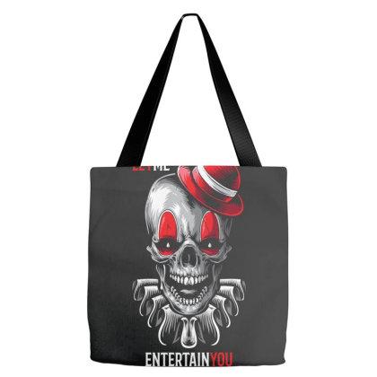 Clown Entertain Horror Tote Bags Designed By Designisfun