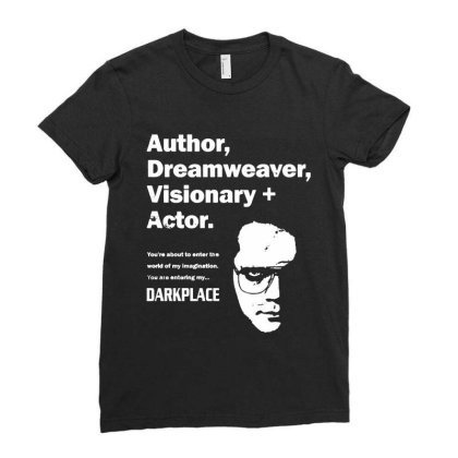 Author Dreamweaver Darkplace Ladies Fitted T-shirt Designed By Richard Art