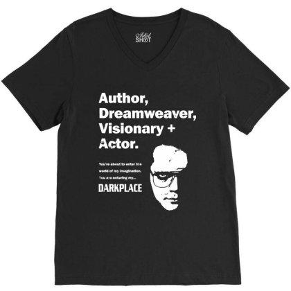 Author Dreamweaver Darkplace V-neck Tee Designed By Richard Art
