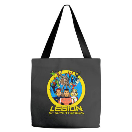 Logo For Super Heroes Tote Bags Designed By Brave Tees