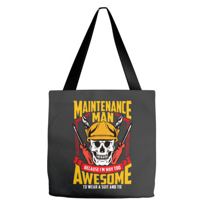 Maintenance Man Tote Bags Designed By Brave Tees