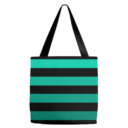 Green Striped Lines Tote Bags Designed By American Choice