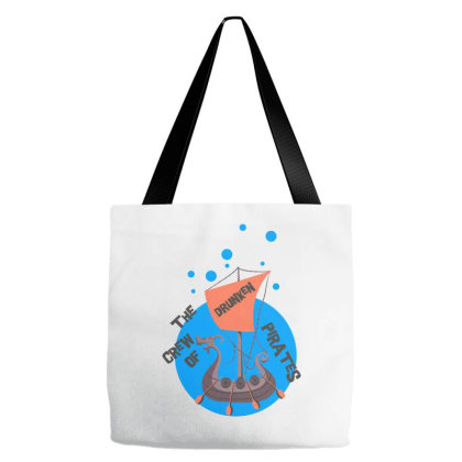 The Crew Of Drunken Tote Bags Designed By Kahvel